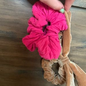 Pink and Brown Scrunchies!